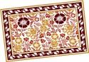 Ocean Collection Linen Flower Block Print Table Placemat - Pack Of 4 - TPMDZ5PVMYJCDMTT