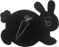PoppadumArt Honey Bunny - Chalkboard Puzzle Mat Pack Of 1 Table Placemat Black, MDF