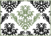 Leaf Designs Green & White Pattern Table Placemat (Pack Of 6)