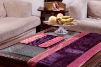 Jodhaa Velvet And Brocade Table Placemat (Pack Of 8) - TPME5T3HXFPZUZAD