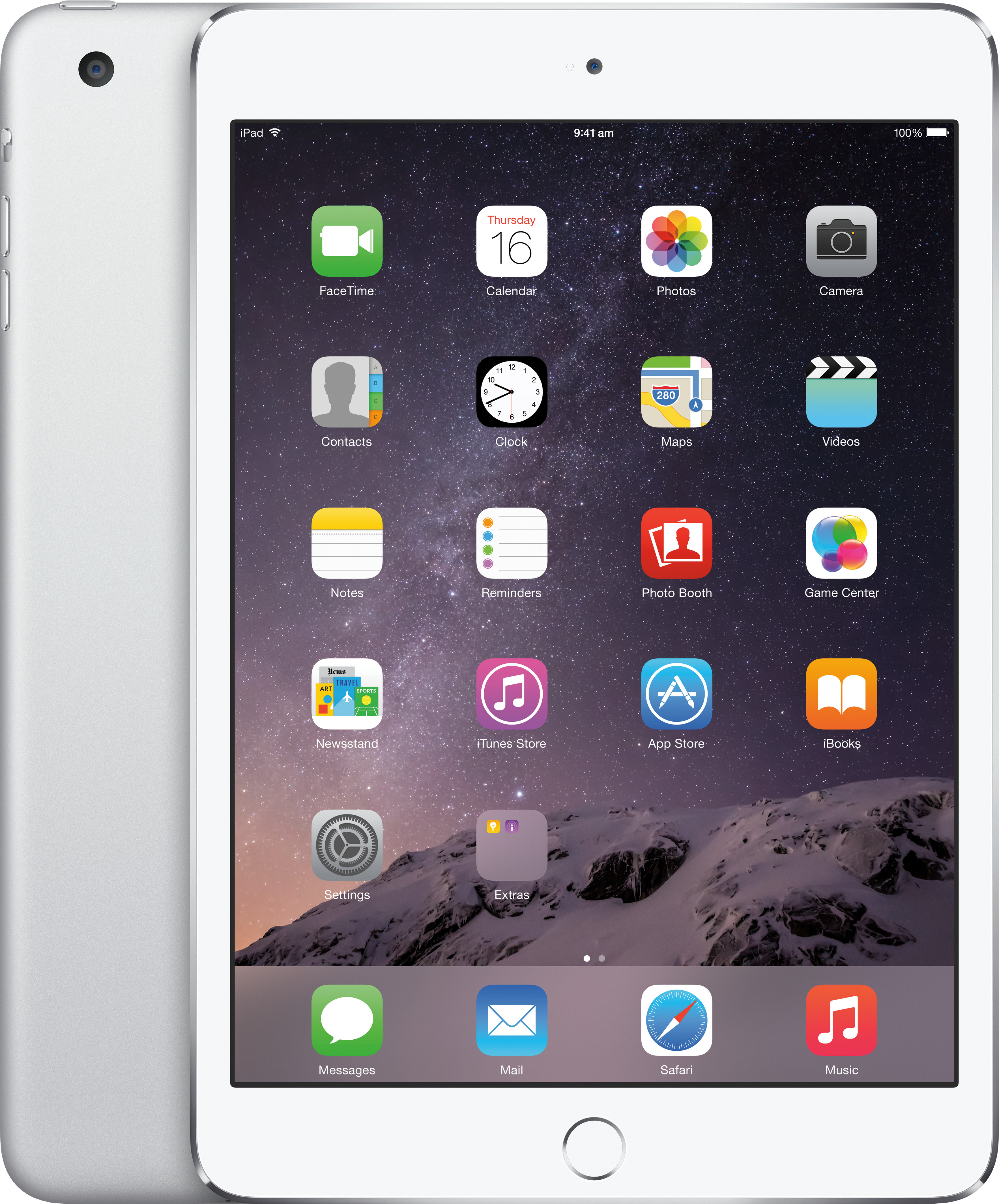 Apple iPad Air 2 Wi-Fi 64 GB Tablet Silver, 64 GB, Wi-Fi Only