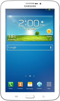 Samsung Galaxy Tab 3 T211 Tablet White, 8 GB, 2G, 3G, Wi Fi available at Flipkart for Rs.17777
