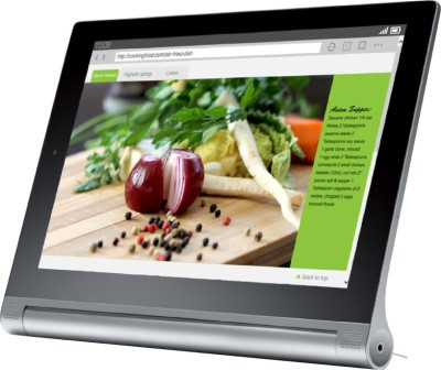 Compare Lenovo Yoga 2 Tablet Android 8 inch Platinum, 16 GB, Wi-Fi, 2G, 3G, 4G, Voice Calling at Compare Hatke