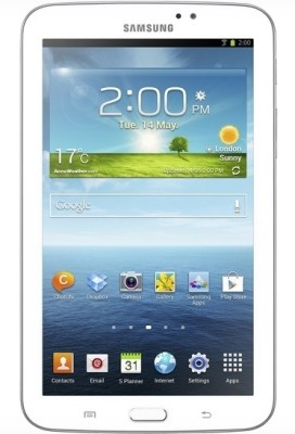 Samsung Galaxy Tab 3 T210 Tablet White, 8  GB, Wi Fi available at Flipkart for Rs.10099