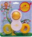 Baby Coo's Rattle Teether - Yellow