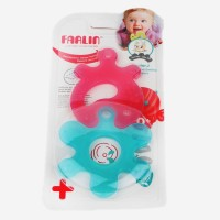Farlin Farlin Smiley Gum Soother Teether (Blue,Pink)