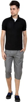 Grand Bear Regular Fit Cotton Solid Men's Three Fourths