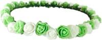 Loops N Knots Princess Flora Crown & Tiara (Green, White, Pack Of 1)
