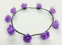 Loops N Knots Net Crown & Tiara (Purple, Pack Of 1)