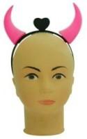 Smartcraft Devil Horn Headband-Pink Crown & Tiara (Multicolor, Pack Of 1)