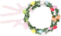 Takspin Floral Leaf With Ribbon Tiara (Multicolor, Pack Of 2)