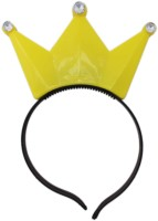 Tootpado Mini Crown Style LED Head Band Glowing Hair Bands For Girls Tiara (Yellow, Pack Of 1)