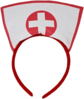 Tootpado Nurse Doctor Halloween Cosplay Headband- Fancy Dress Costume Hair Accessories Tiara (White, Pack Of 1)