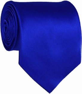 CorpWed CorpWed Solid Blue Men's Tie Solid Men's Tie