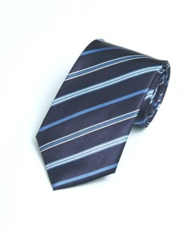 A&S Navy Smart Stripes Striped Men's Tie