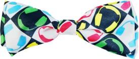 Blacksmith Dj Whitedesign Bow Graphic Print Men's Tie