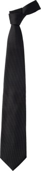 Leo Mens Black Self Stripes Striped Men's Tie