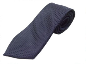 Blacksmithh Navy Blue Formal Jacquard Woven Self Design Men's Tie
