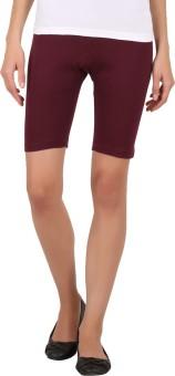 Rham Solid Women's Short Length Tight-MID RISE Tights