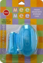 Mee Mee Toothbrushes Mee Mee Finger Toothbrush with Storage Case
