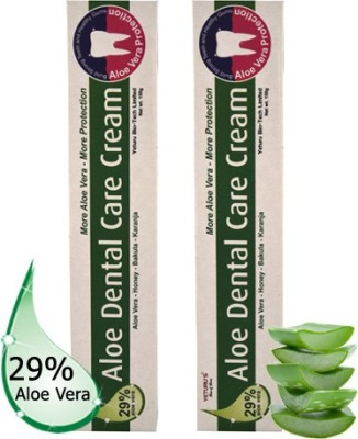 Yeturu's Aloe Dental Care Cream (Aloe Vera 29%) 150gms (pack Of 2nos) Mint Toothpaste (300 G)