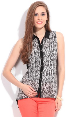 Bossini Bossini Casual Sleeveless Printed Women's Top (Black)