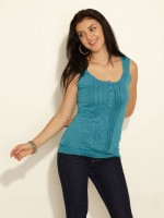 Sepia Casual Sleeveless Solid Women's Top