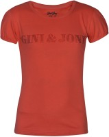 Gini & Jony Casual Short Sleeve Solid Baby Girl's Red Top
