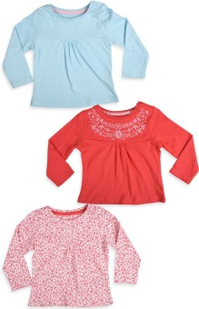 Mothercare Casual Full Sleeve Solid White, Blue, Red Top