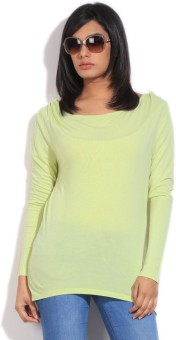United Colors Of Benetton Casual Full Sleeve Solid Women's Top