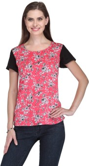 Stilestreet Casual Short Sleeve Floral Print Women's Top