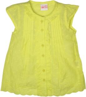 FS Mini Klub Casual Cap Sleeve Printed Girl's Green Top