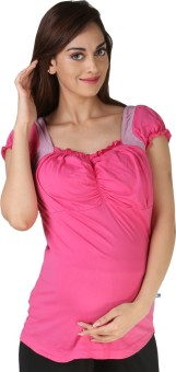 Morph Maternity Casual Short Sleeve Solid Women's Top
