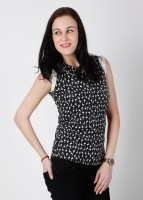 Wills Lifestyle Casual Sleeveless Printed Women's Top