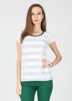 Kraus Casual Short Sleeve Striped Women's Top
