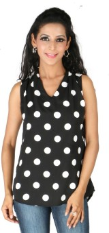 Eliza Donatein By Shoppers Stop Casual Sleeveless Solid Women's Top