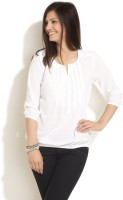Styletoss Casual 3/4 Sleeve Solid Women's Top