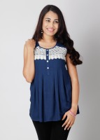 AND Casual Sleeveless Solid Women's Top