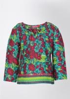 Biba Full Sleeve Floral Print Girl's Top