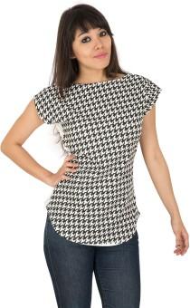 Leelan Casual Short Sleeve Geometric Print Women's Top