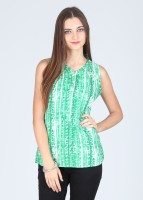 Style Quotient by Noi Casual Sleeveless Printed Women's Top