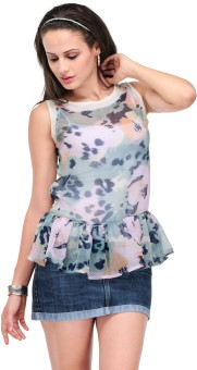 Yepme Casual Sleeveless Animal Print Women's Top