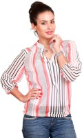 Swank Casual 3/4 Sleeve Striped Women's Top