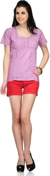 Yepme Casual Short Sleeve Solid Women's Top - TOPDSMCBKZ2VBAUT