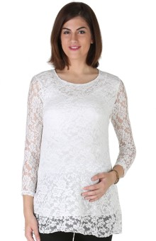 Morph Maternity Casual 3/4 Sleeve Floral Print Women's Top