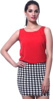 Faballey Casual Sleeveless Solid Women's Top