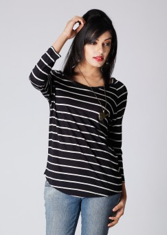 Compare Van Heusen Striped Women Top: Top at Compare Hatke