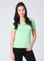 UV&W Casual Short Sleeve Solid Women's Top