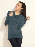 Lee Casual Short Sleeve Solid Women's Top