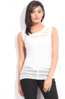 Riot Casual Sleeveless Striped Women's Top